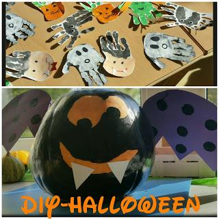 einfache DIY Halloween Deko Kinder