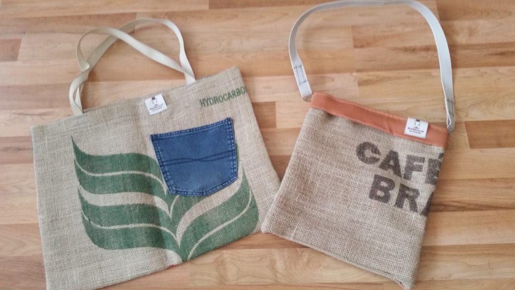 Upcycling Taschen aus alten Kaffeesäcken